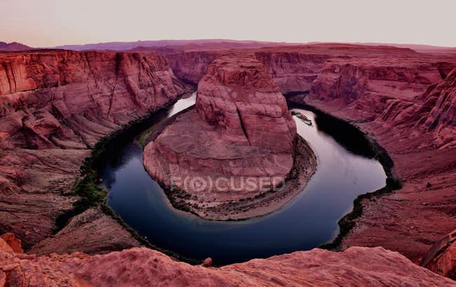 Vista de Horseshoe Bend - foto de stock