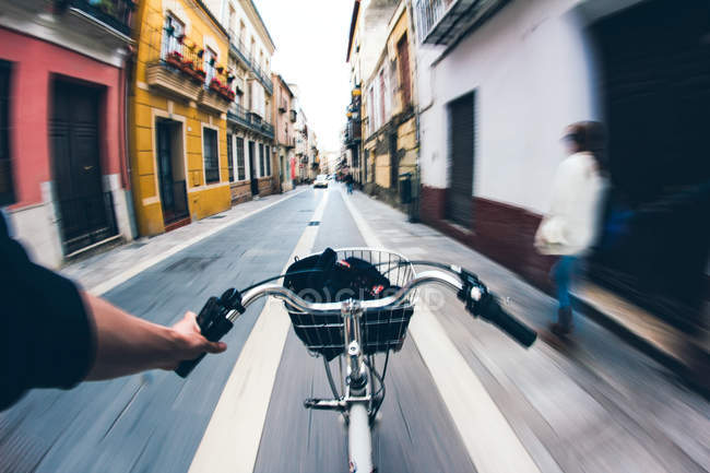 Maniglia a mano bar sulla bicicletta — Foto stock