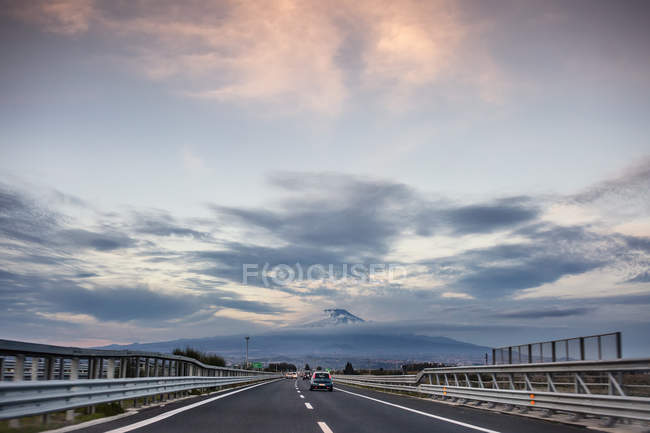 View along highway — Stock Photo