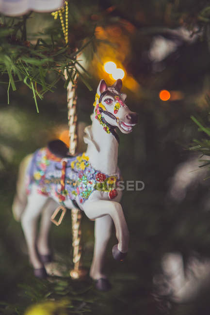 Ornement de Noël cheval — Photo de stock