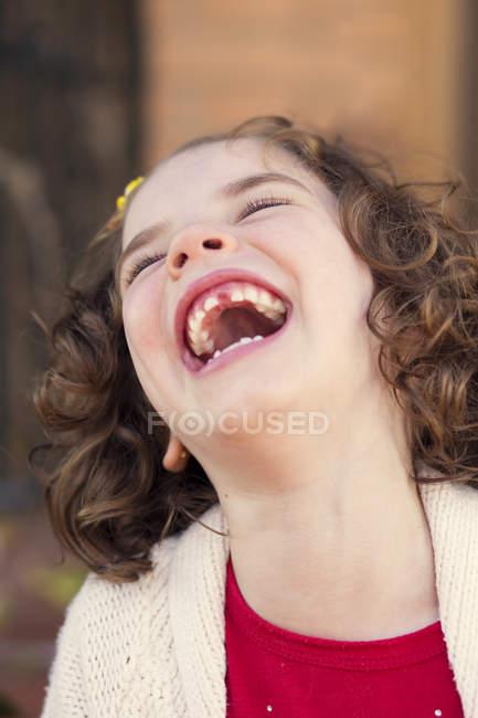 Menina Rindo — Fotografia de Stock
