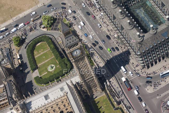 Vue aérienne de Big Ben — Photo de stock