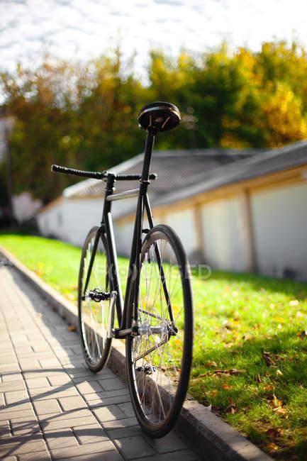 Commuter bike, back view — Stock Photo