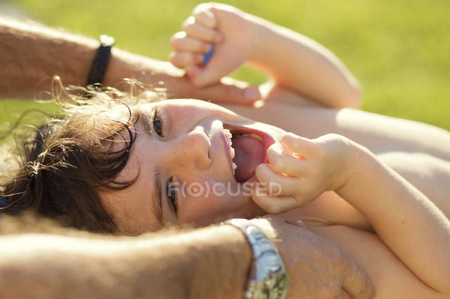 Portrait of laughing girl — Stock Photo