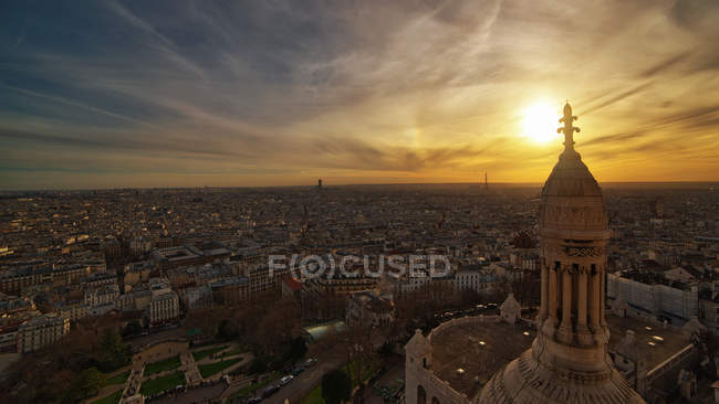 View of Paris from top of Sacre Coeur — Stock Photo