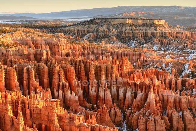 Formações de rocha Canyon na luz da manhã — Fotografia de Stock