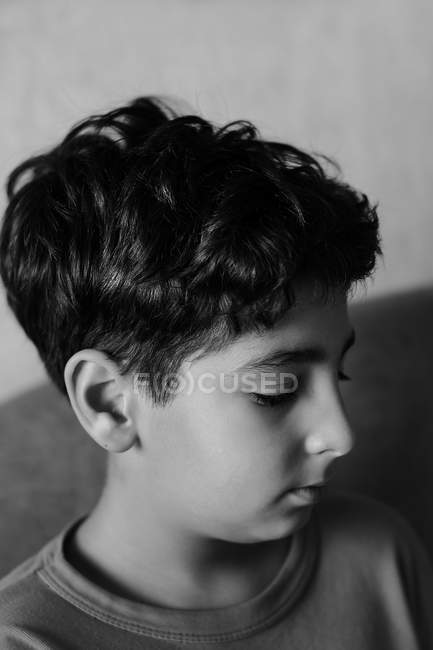 Young boy with pronounced facial features — Stock Photo