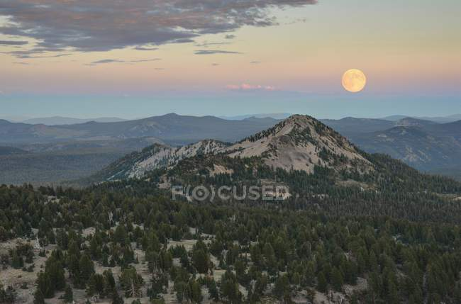 Rising of Moon Over Reading Peak — Stock Photo