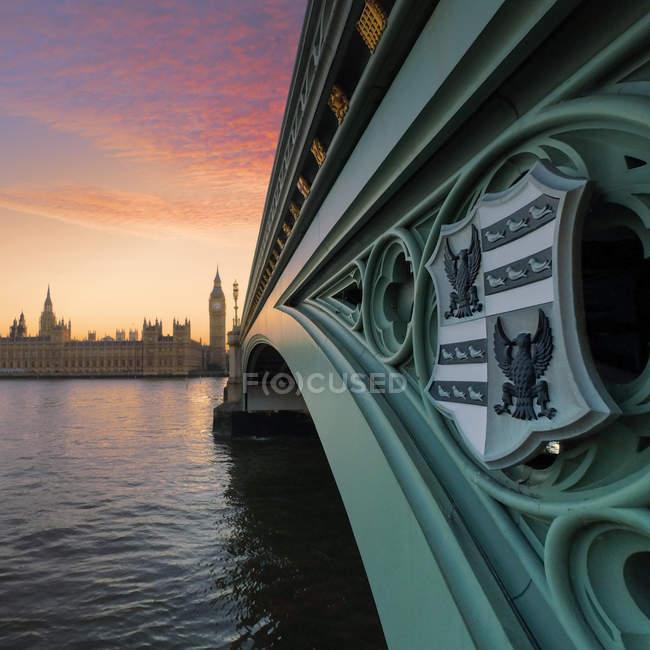 Вестмінстерський міст і Біг-Бен — стокове фото
