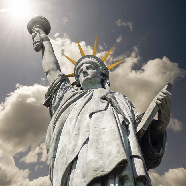 Bottom view of Statue of Liberty — Stock Photo