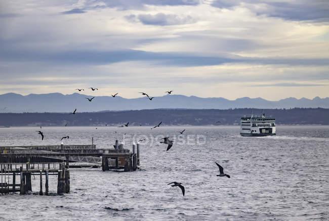 Fähre verlassen Port Townsend — Stockfoto