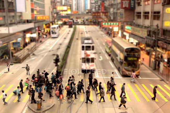 People crossing pedestrian lane — Stock Photo