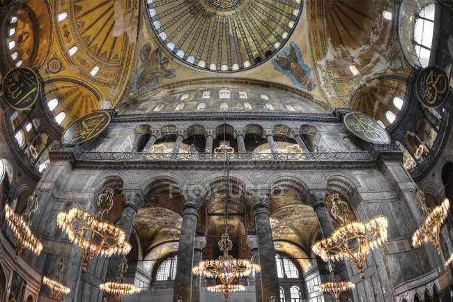 Interior de hagia sophia — Fotografia de Stock