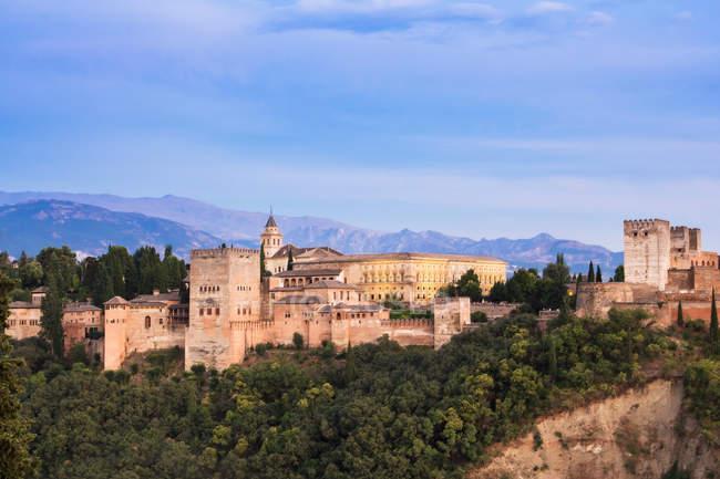 Vista de la fortaleza en España - foto de stock