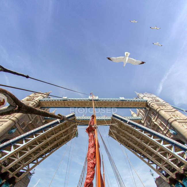 Puente de la torre elevada, Londres, Inglaterra - foto de stock