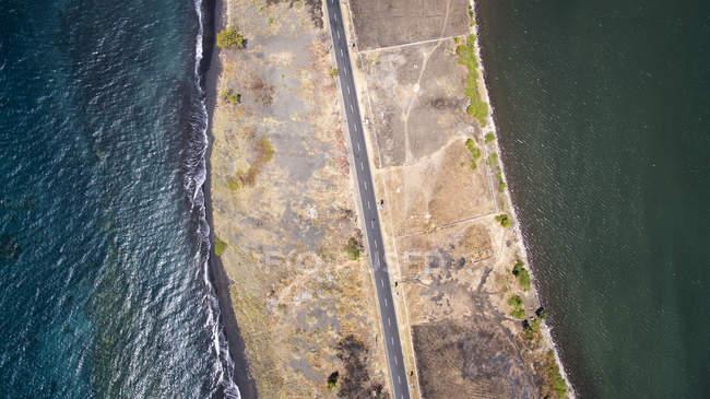 Vue aérienne d'une route — Photo de stock