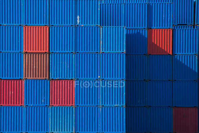 BoxesStacks of shipping containers — Stock Photo