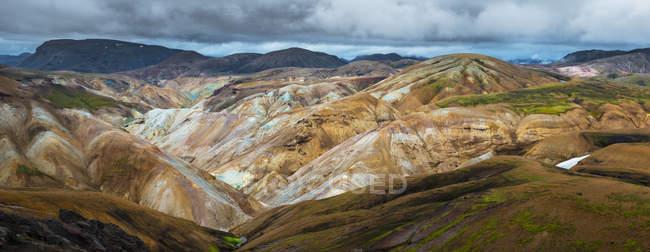 Vista sulla valle nella riserva naturale di Fjallabak — Foto stock