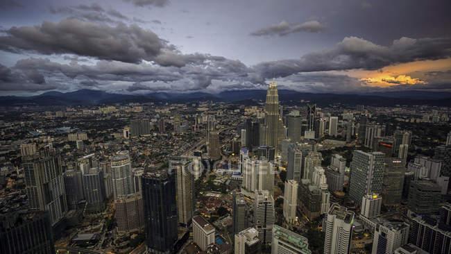 Kuala Lumpur at sunset — Stock Photo