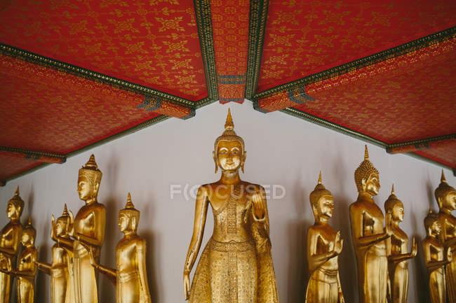 Buddha statues in Royal Palace — Stock Photo