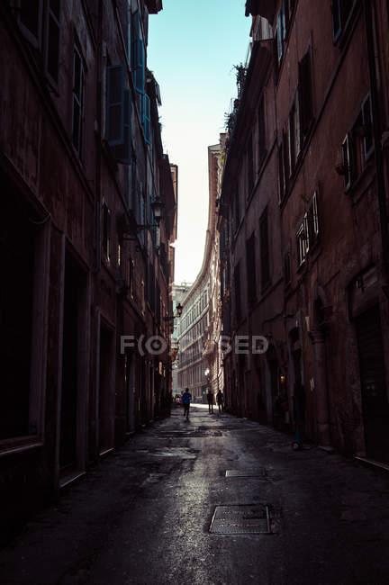 Italy, Roman street at sunrise — Stock Photo