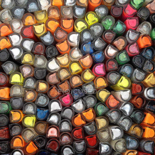 Botellas de esmalte de uñas - foto de stock