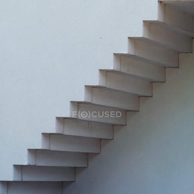 Close-up of white staircase — Stock Photo