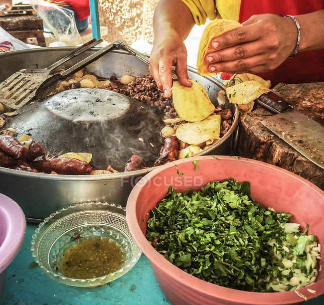 Вуличної їжі, Сан Мігель де Альєнде — стокове фото