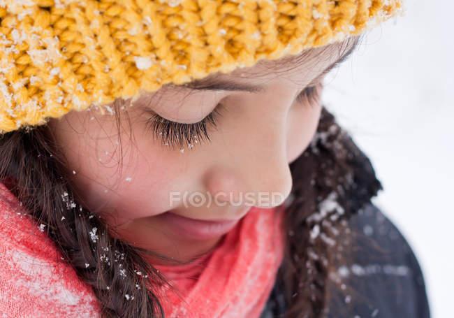 Nahaufnahme Porträt eines Mädchens — Stockfoto