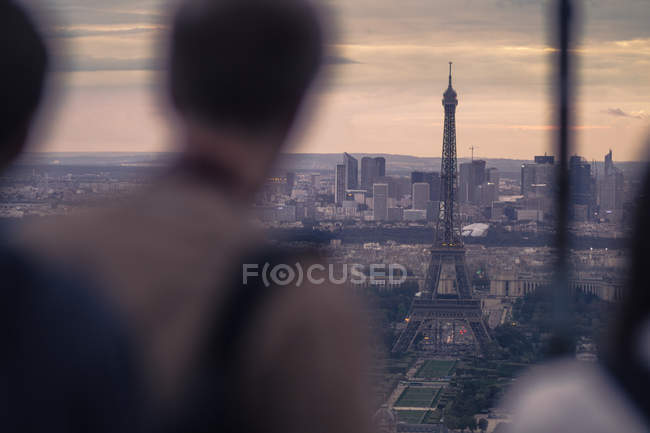 Tour Eiffel vue depuis la tour Montparnasse — Photo de stock