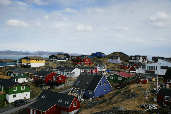 Colorful buildings in Nuuk — Stock Photo