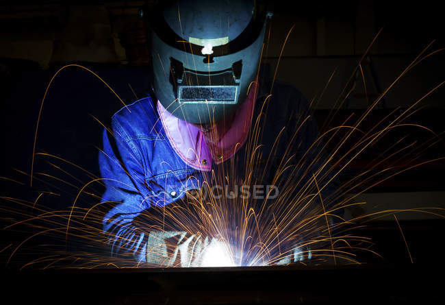 Close-up of a welder — Stock Photo