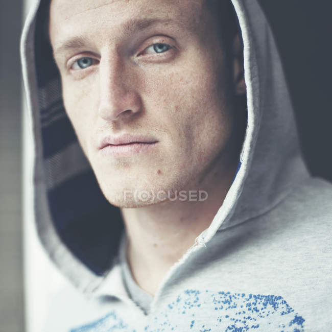 Portrait of freckled young man — Stock Photo