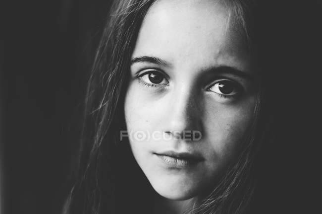 Langhaarige Teenager-Mädchen — Stockfoto