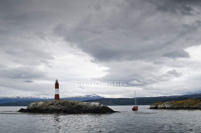 Les Eclaireurs lighthouse — Stock Photo