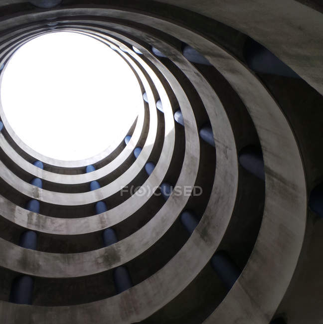Pattern of multi storey spiral car parking — Stock Photo