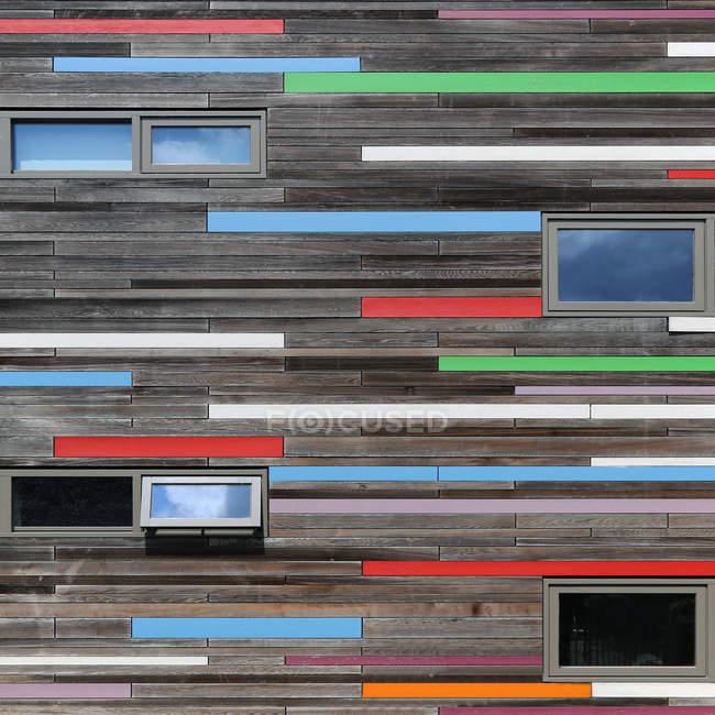 Patrón de fachada abstracta - foto de stock