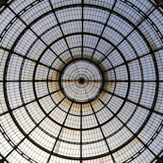 Pattern modern round glass roof — Stock Photo