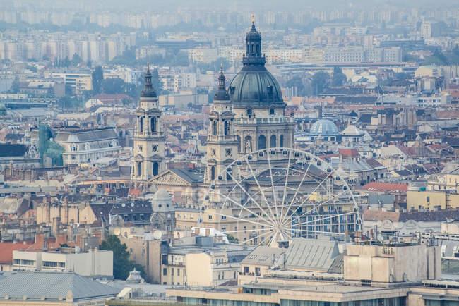 Міський пейзаж прекрасною архітектурою Будапешта — стокове фото