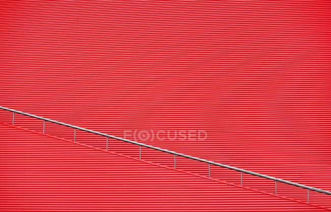 Pattern of red circular arc wall — Stock Photo