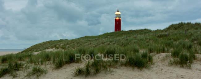 Вид на острові Тесел маяк — стокове фото