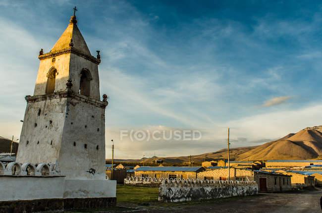 Isluga church, Tamarugal, Chile — стокове фото