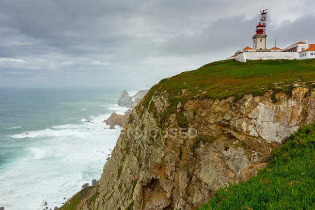 View of Lighthouse on cliff — Stock Photo