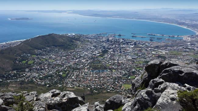 Luftbild von Kapstadt — Stockfoto