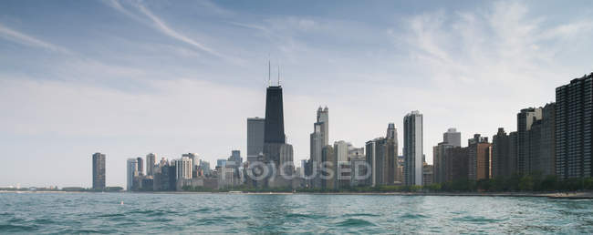 Чикаго Сіті горизонт — стокове фото