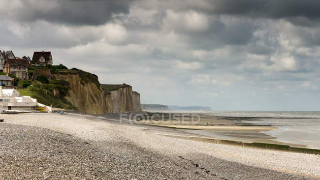 Beautiful view on Coastline at Quiberville — Stock Photo