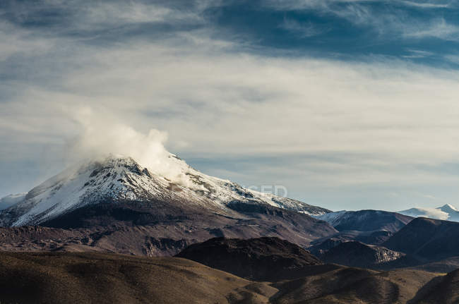 View on Volcano at Guallatire — Stock Photo