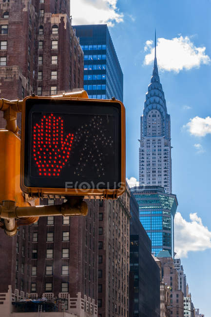 New York Skyline with Chrysler Building — Stock Photo