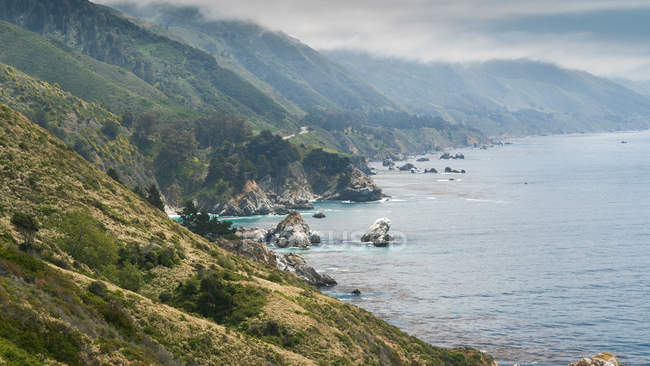 View on coastline in Big Sur — Stock Photo