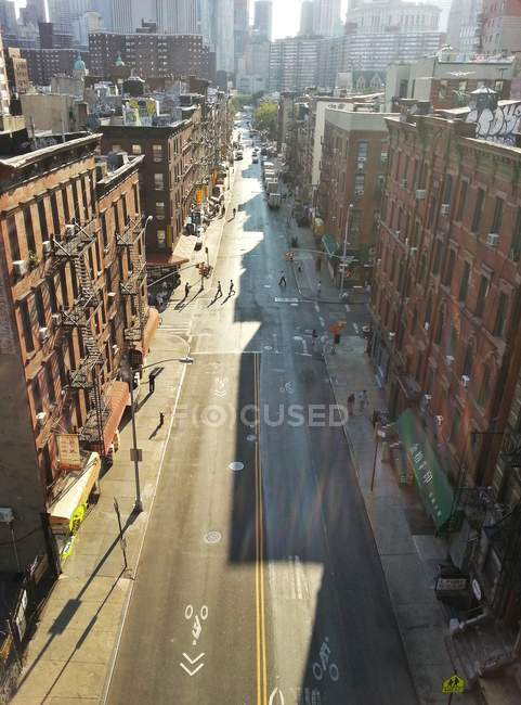 Aerial view of Street scene in New York — Stock Photo
